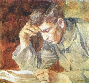 12__Reading_young_man